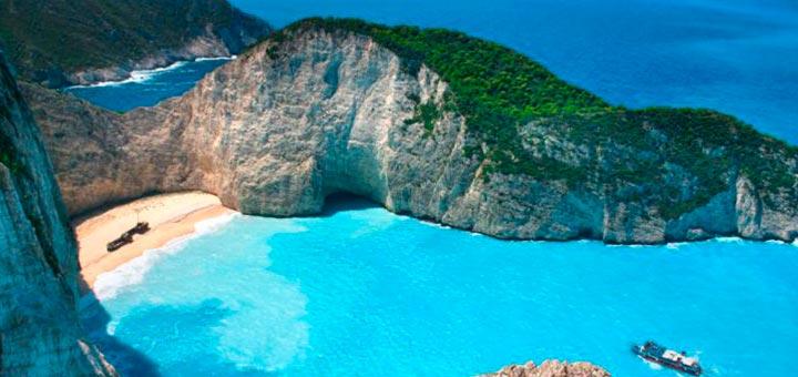 Verano Playa Navagio Grecia
